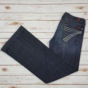 7 For All Mankind Dojo Jeans Women's Sz 31 X 33